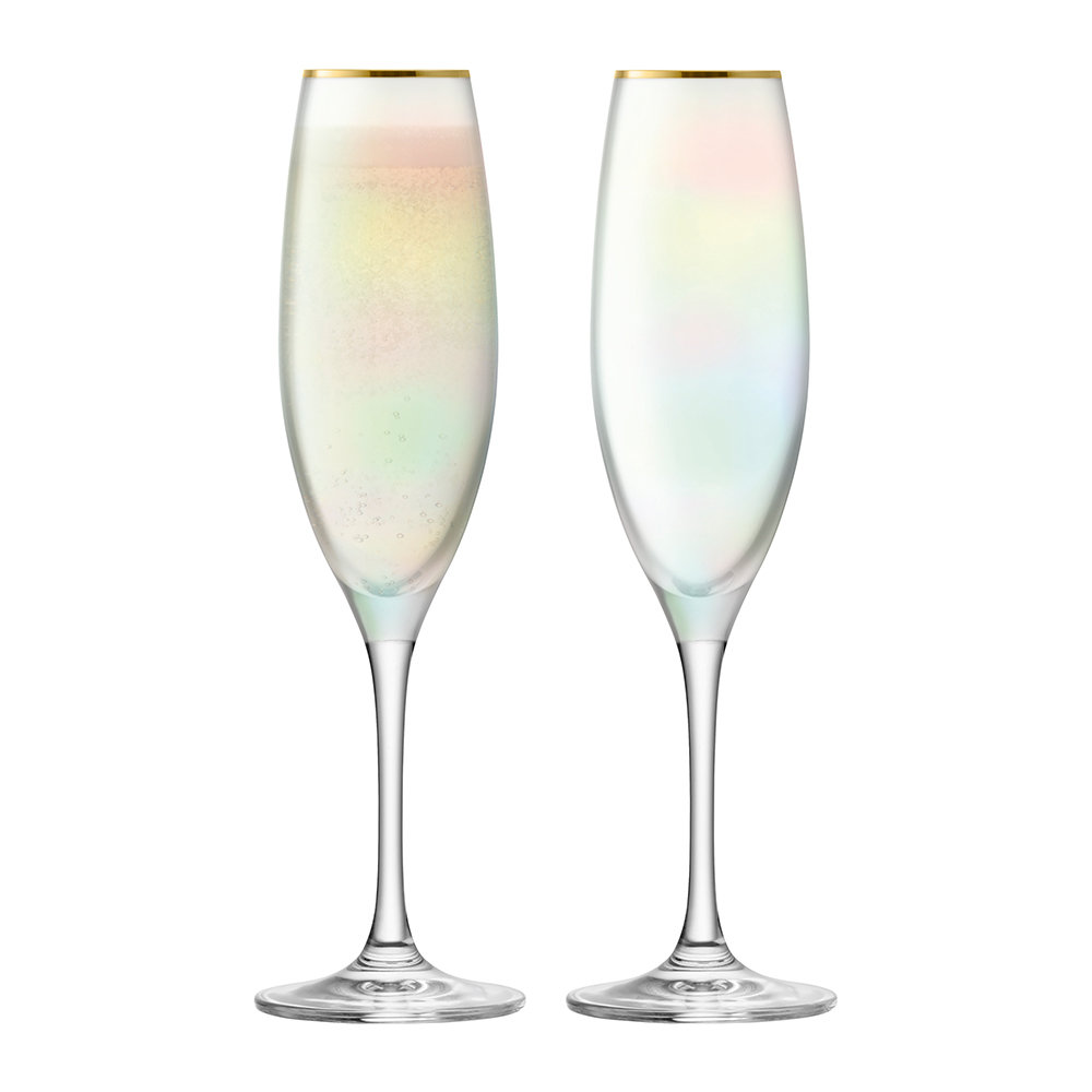 LSA International - Sorbet Champagne Flute - Set of 2 - Nougat