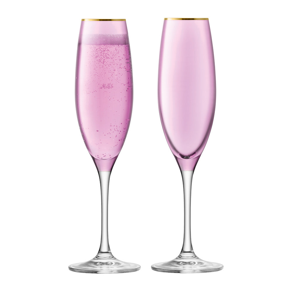 buy lsa international sorbet champagne flute set of 2 rose amara. Black Bedroom Furniture Sets. Home Design Ideas
