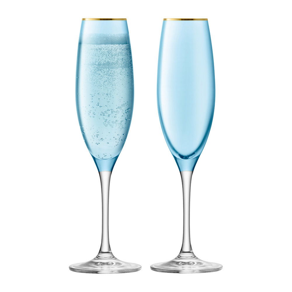 LSA International - Sorbet Champagne Flute - Set of 2 - Spearmint