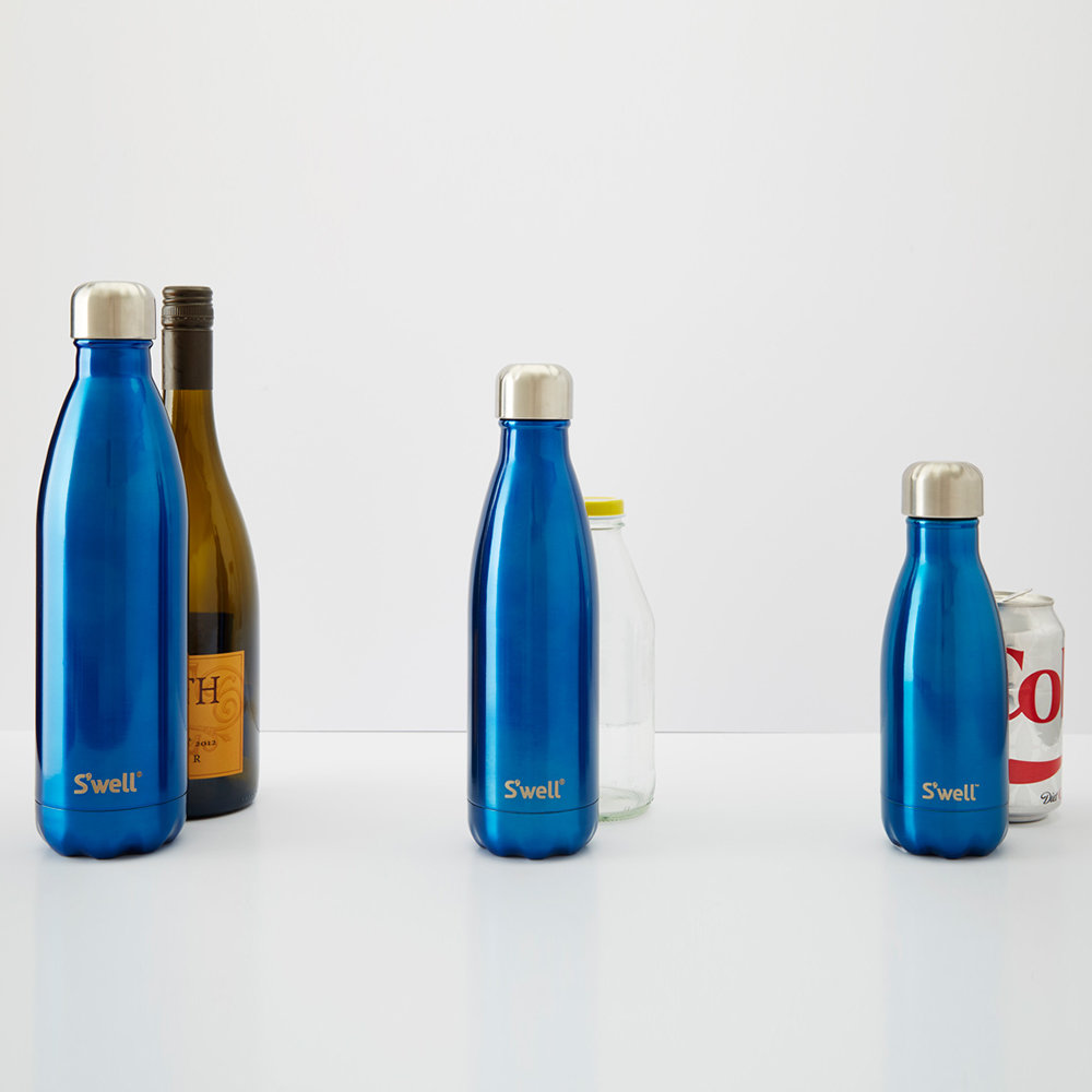 S'well - The Elements Bottle - Blue Granite - 0.26L