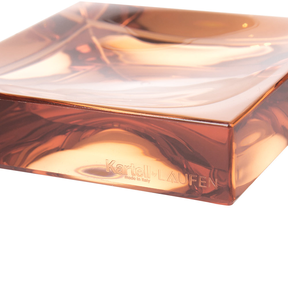 Kartell - Square Soap Dish - Nude Pink