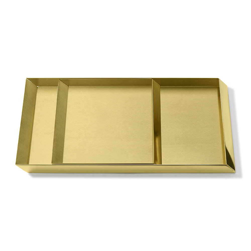 GHIDINI 1961 - Axonometry Coffee Tray Set - Brass