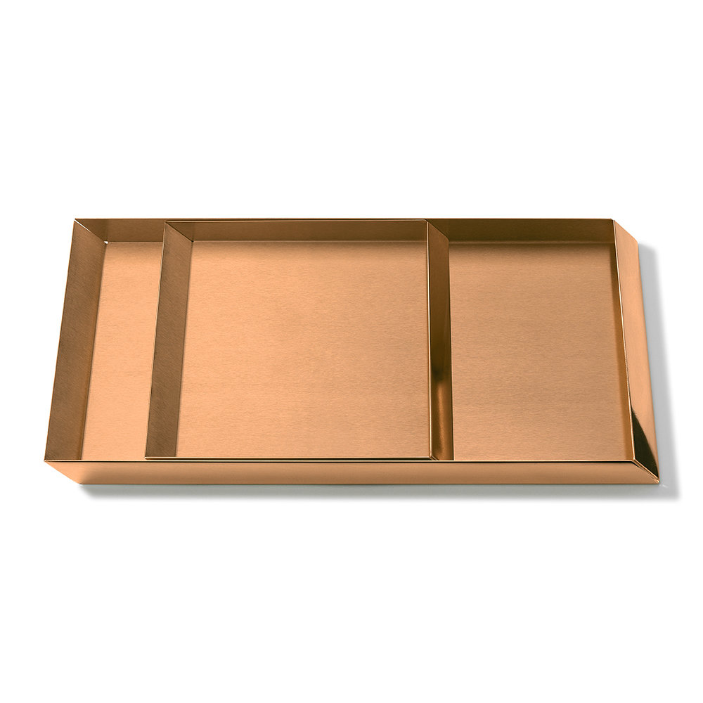GHIDINI 1961 - Axonometry Coffee Tray Set - Rose Gold