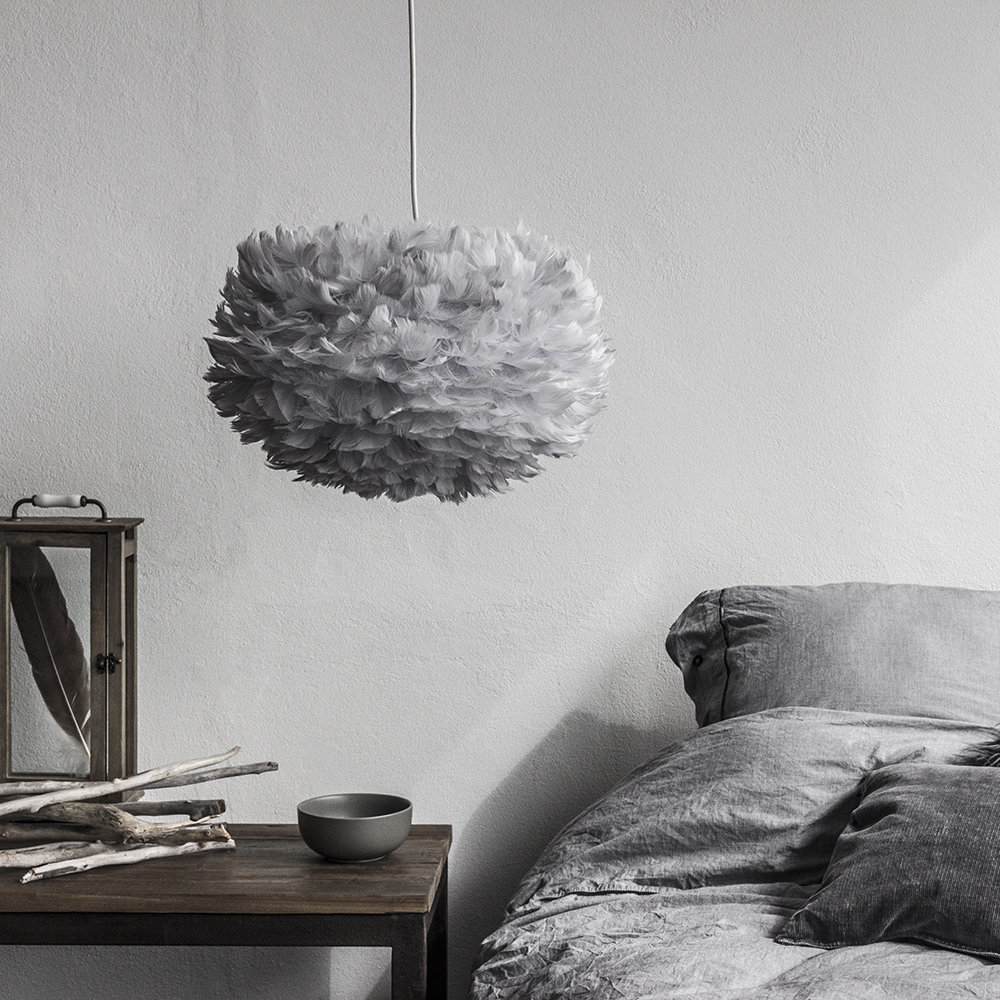 UMAGE - Eos Feather Lamp Shade - Grey - Medium