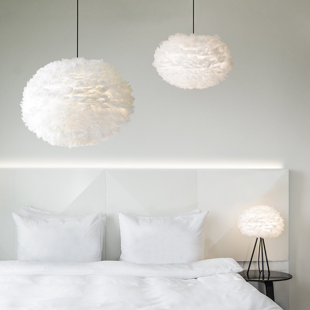 UMAGE - Eos Feather Lamp Shade - White - Mini