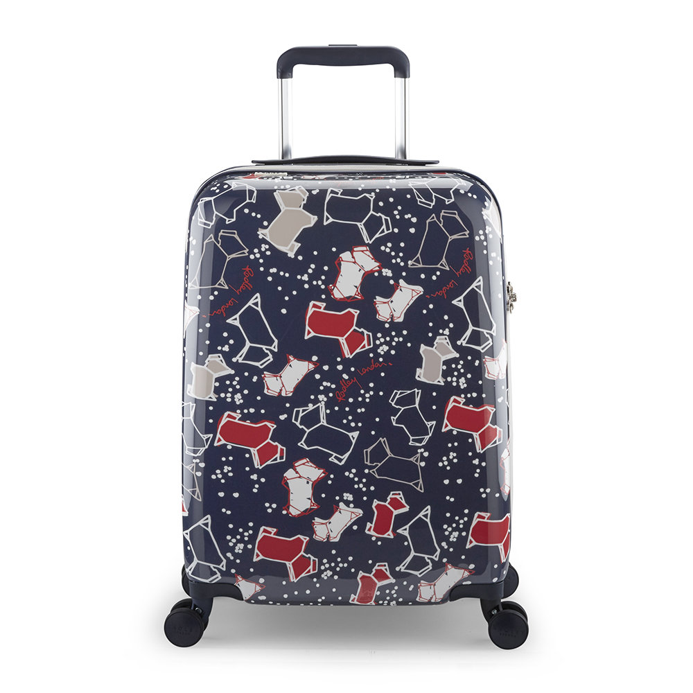 Radley - Speckle Dog Suitcase - Navy Ink - Small