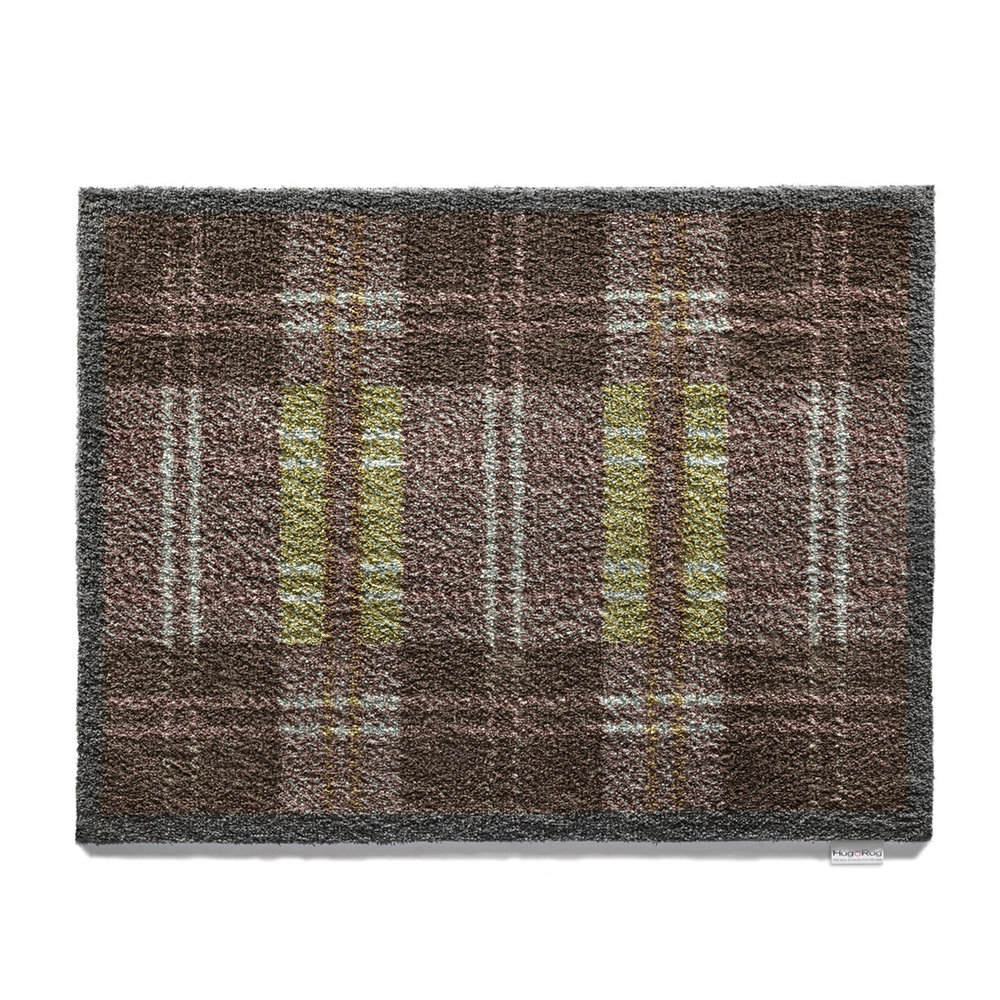Hug Rug - Dugdale Checked Washable Recycled Door Mat - 65x85cm