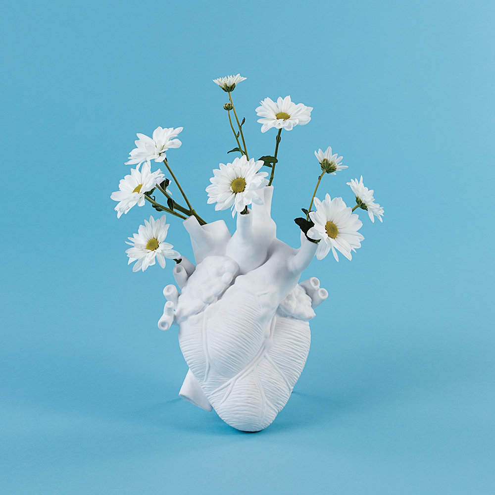Seletti - Love In Bloom Porcelain Heart Vase