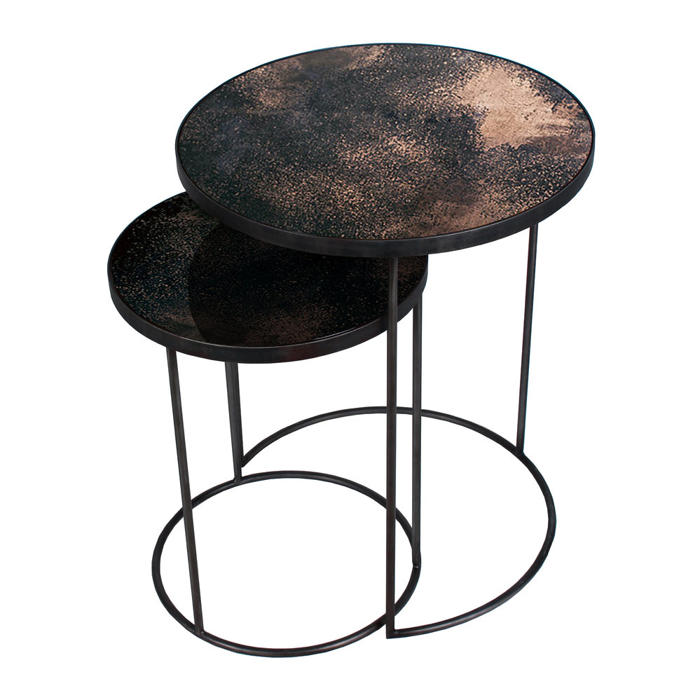 Bronze Nesting Coffee Tables: Buy Notre Monde Nesting Side Table Set - Bronze