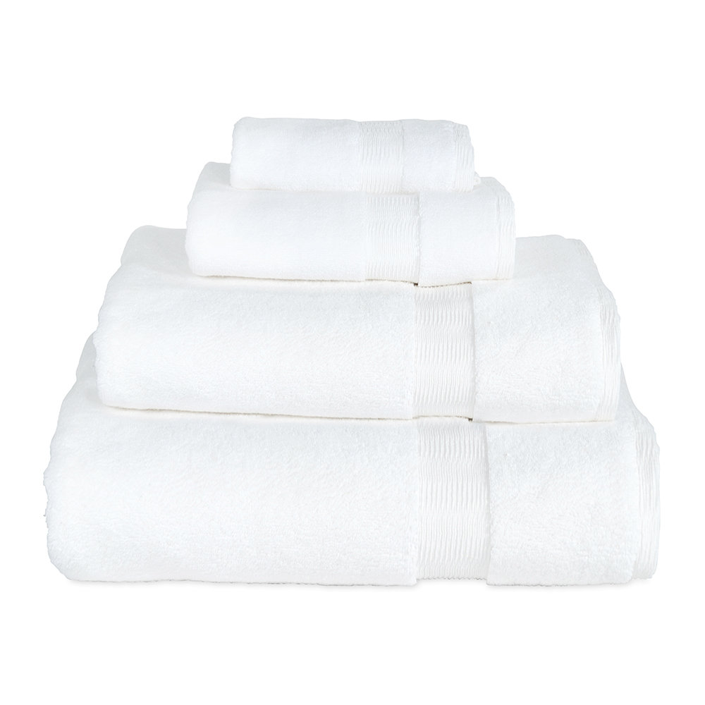 DKNY  Mercer Plain Dye Towel  White  Bath Towel