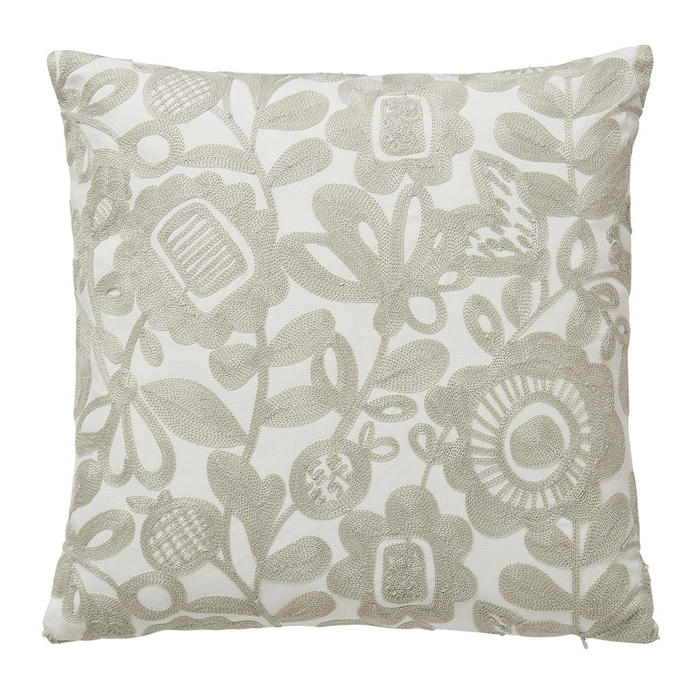 Scion  Kukkia Embroidered Cushion  Charcoal  40x40cm