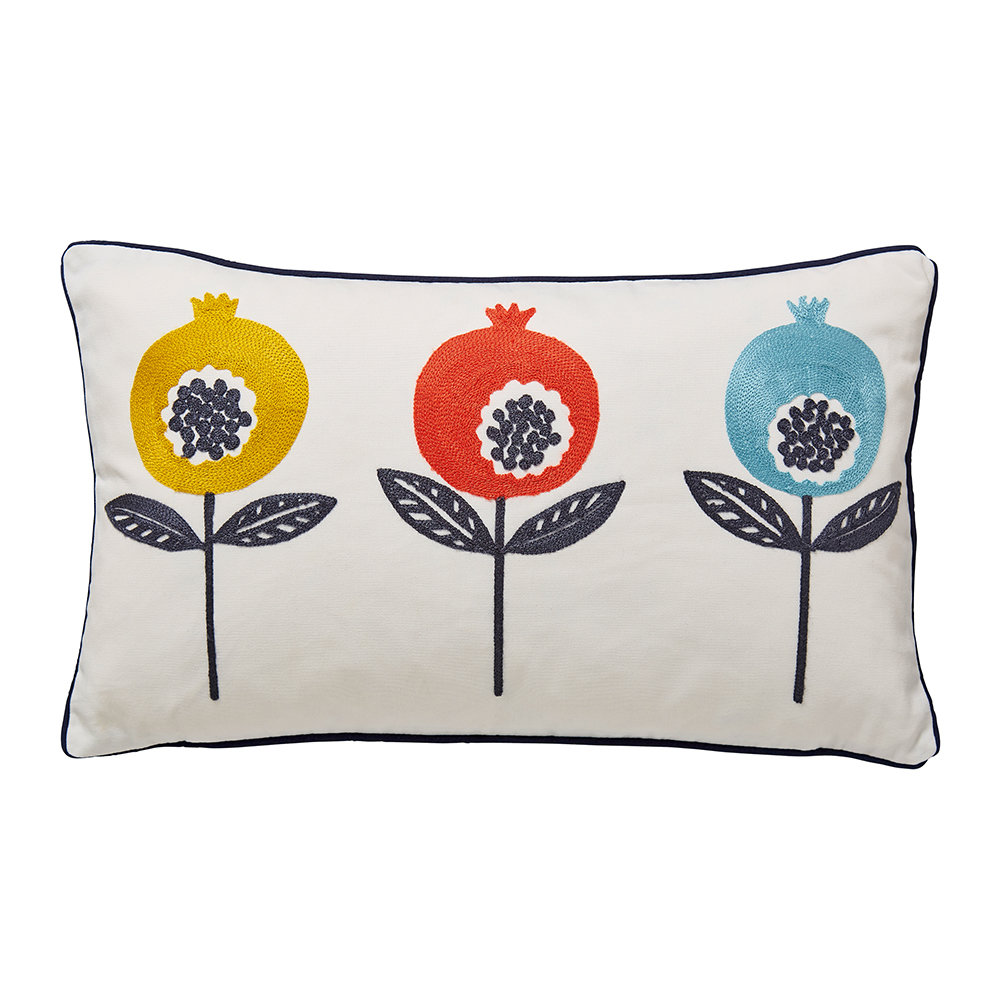 Scion  Pepino Embroidered Cushion  Ink  30x50cm