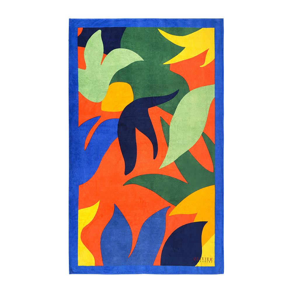Olivier Desforges - Abstract Multicolour Beach Towel