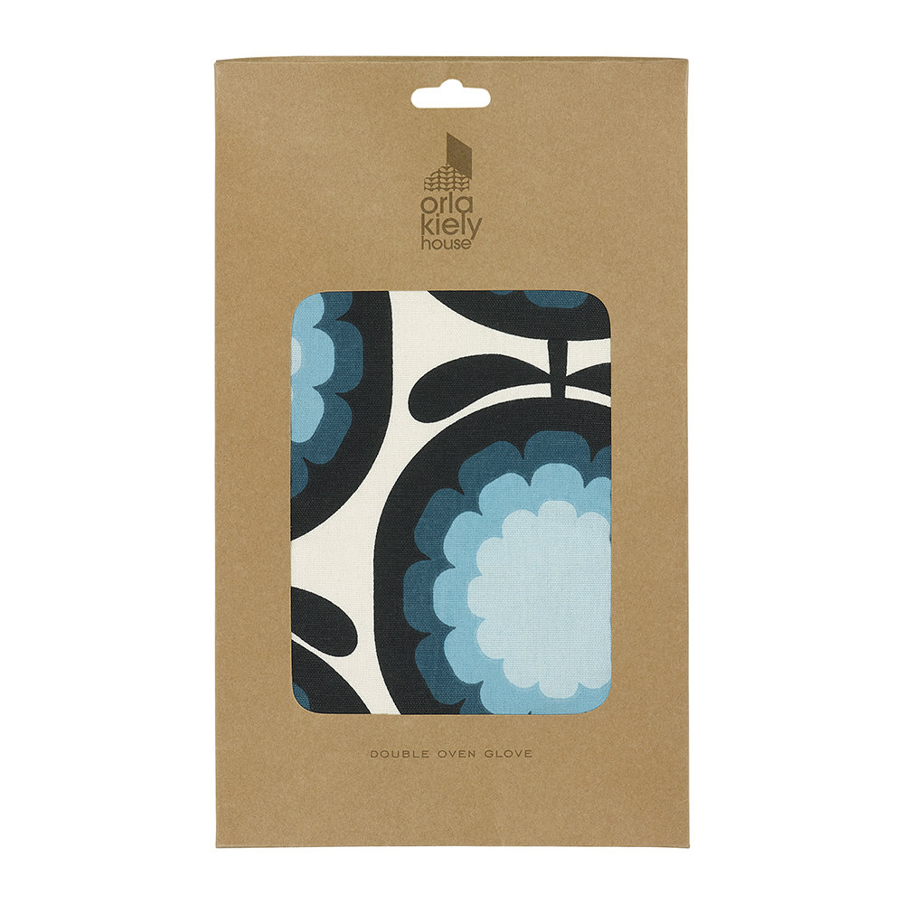 Orla Kiely - Cantaloupe Melon Double Oven Glove - Blueberry