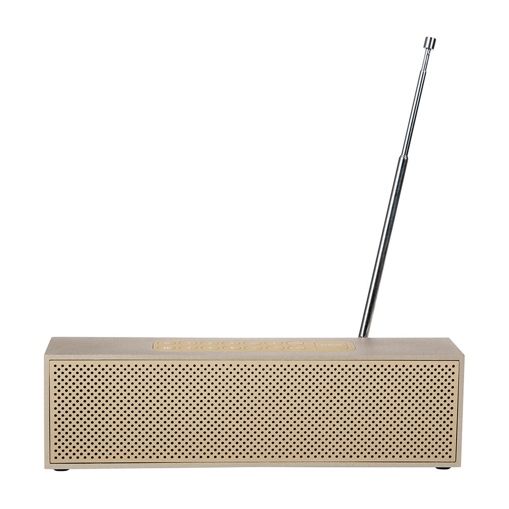 Lexon - Titanium LED Clock Radio - Soft Gold
