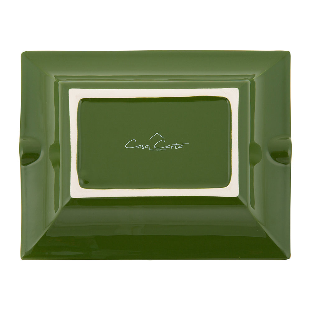 casacarta - Leaf Trinket Tray/Ashtray - Porcelain - Green