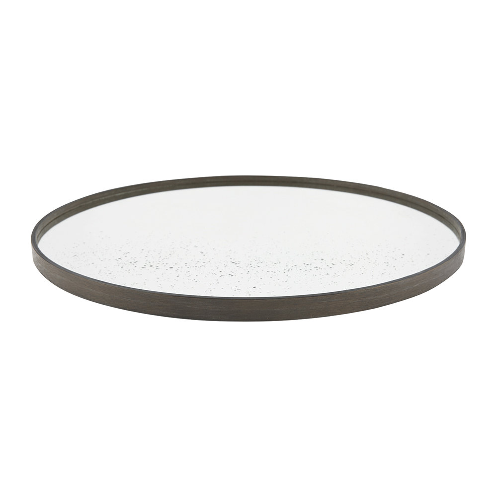 Notre Monde - Large Round Aged Mirror - Light Clear