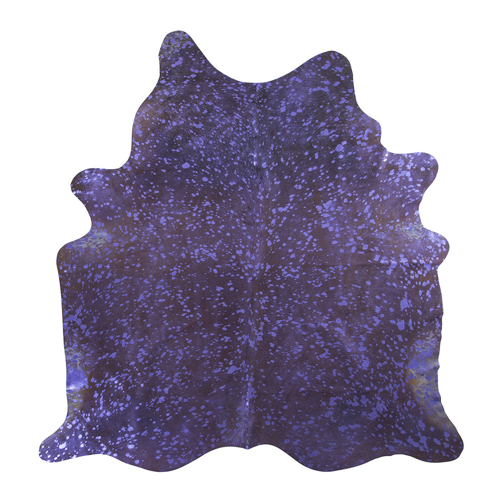 Luxe - Metallic Acid Cowhide Rug - Purple