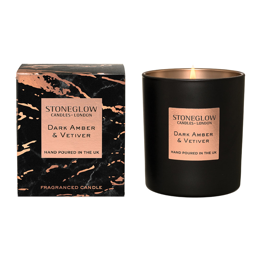 Stoneglow - Luna Tumbler Candle - Dark Amber  Vetiver