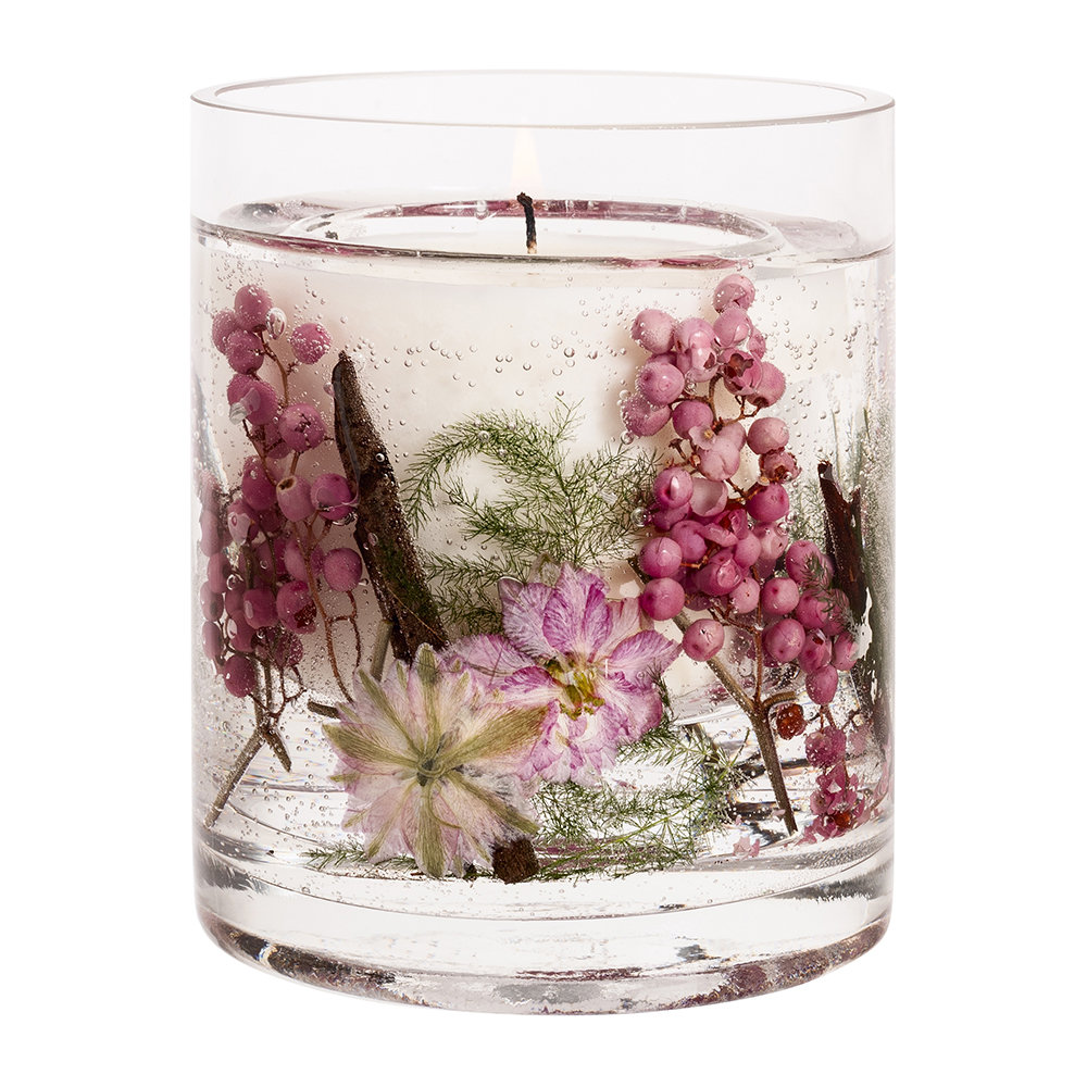 Stoneglow - Nature's Gift Gel Candle - Pink Pepper Flowers