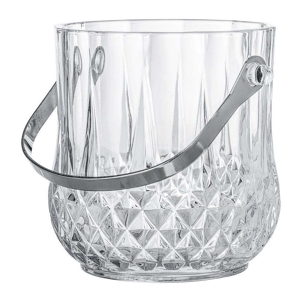 Bloomingville - Art Deco Textured Glass Ice Bucket With Handle