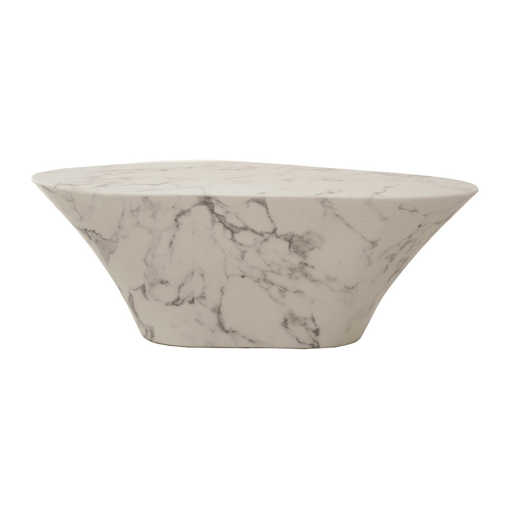 Parker Oval Marble Coffee Table Reviews: Buy Pols Potten Oval Coffee Table - Artificial Marble