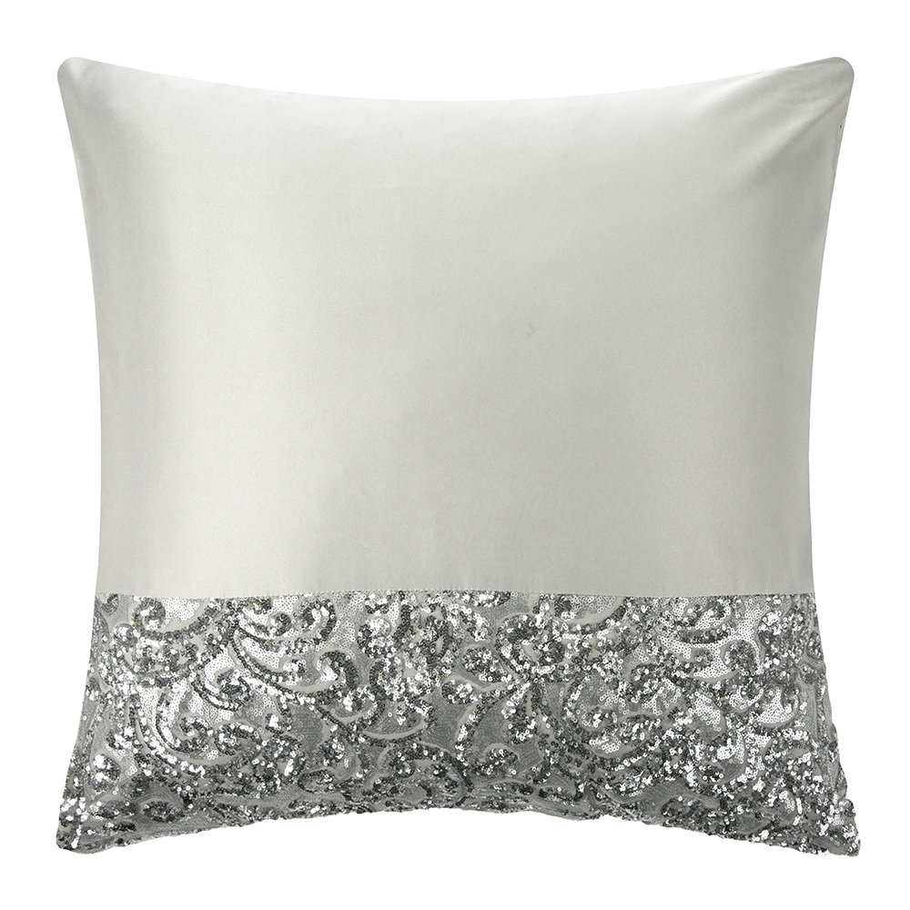 Kylie Minogue at Home - Cadence Pillowcase - Silver - 65x65cm