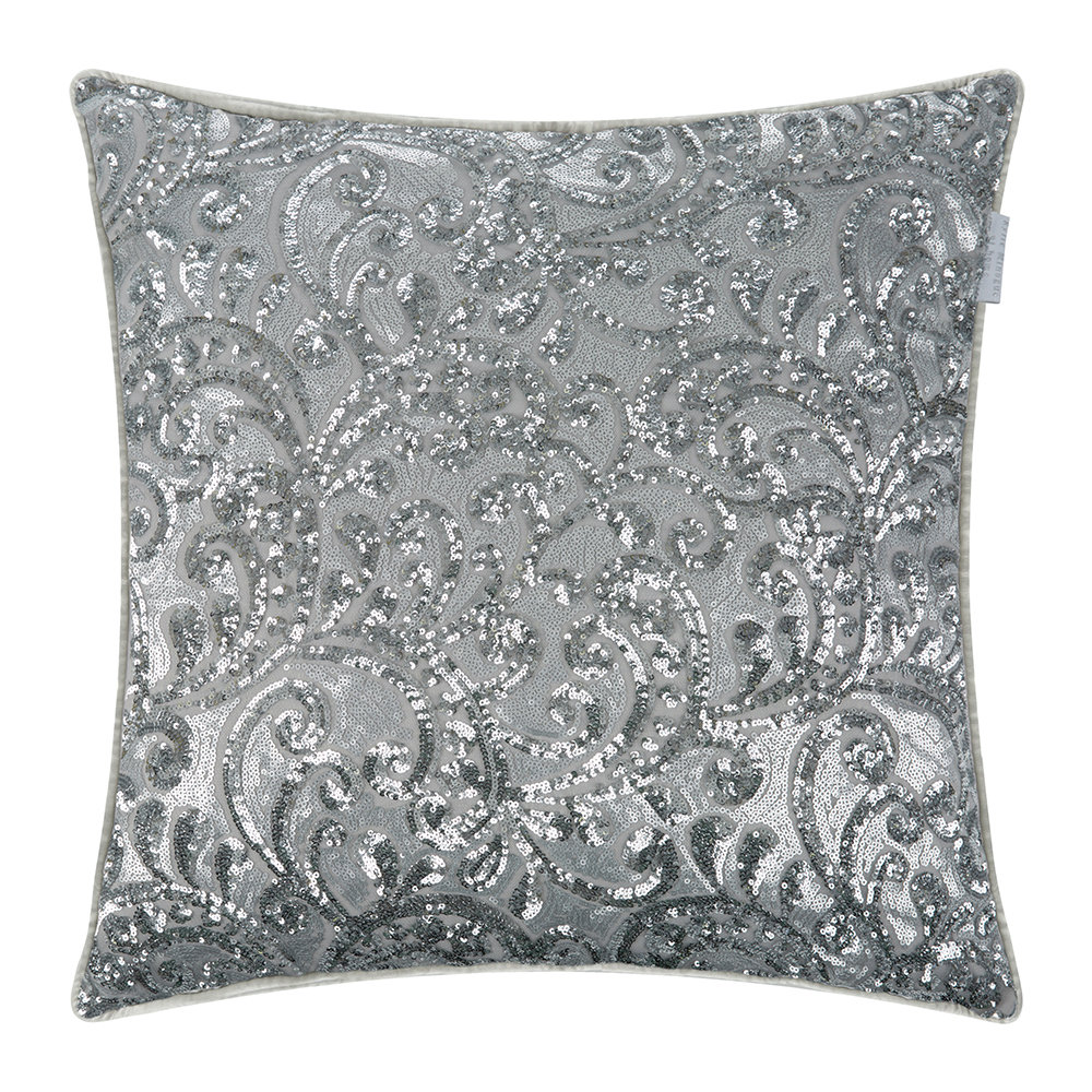 Kylie Minogue at Home - Cadence Bed Cushion - Silver - 55x55cm