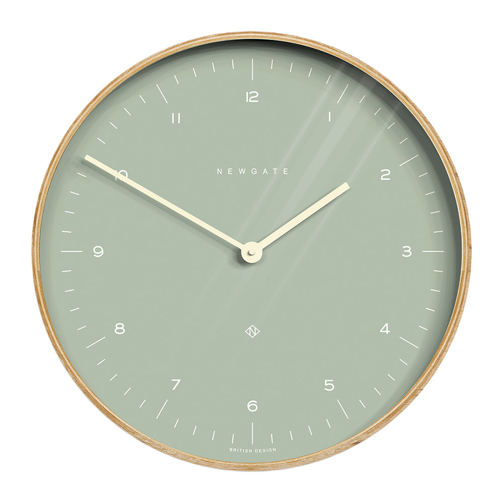 Newgate Clocks - Mr Clarke Wall Clock - 40cm - Bubble Green Dial