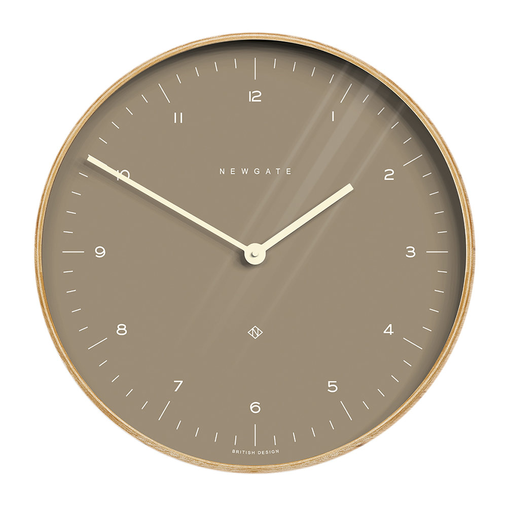 Newgate Clocks - Mr Clarke Wall Clock - 40cm - Burnt Sienna Dial