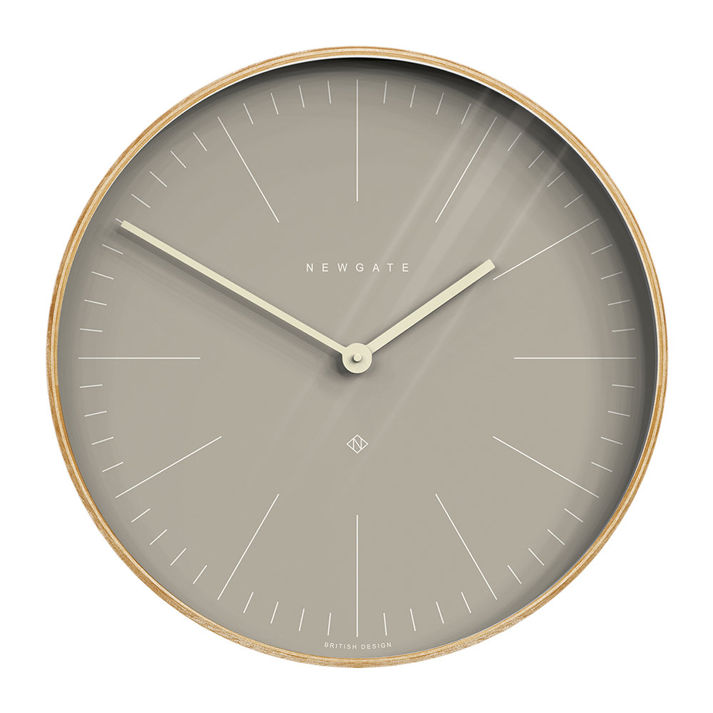 Newgate Clocks - Mr Clarke Wall Clock - 53cm - Clay Grey Dial
