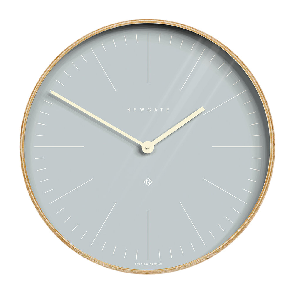 Newgate Clocks - Mr Clarke Wall Clock - 40cm - Pill Blue Dial
