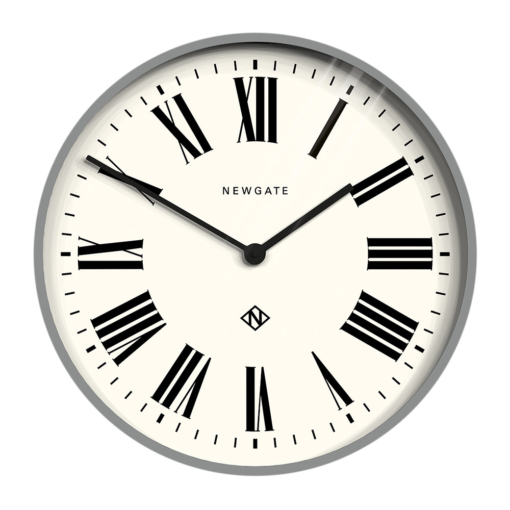 Newgate Clocks - Number One Italian Wall Clock - Posh Grey