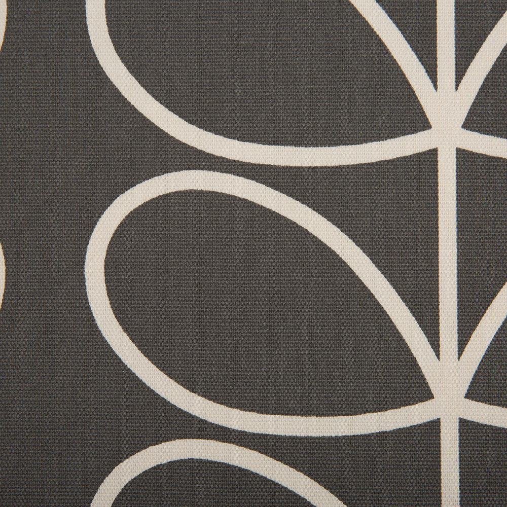 Orla Kiely - Linear Stem Eyelet Curtains - Charcoal - 229x229cm