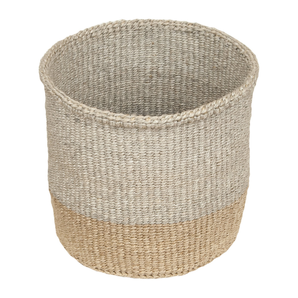 The Basket Room - Linear Fusion Mbili Hand Woven Basket - L