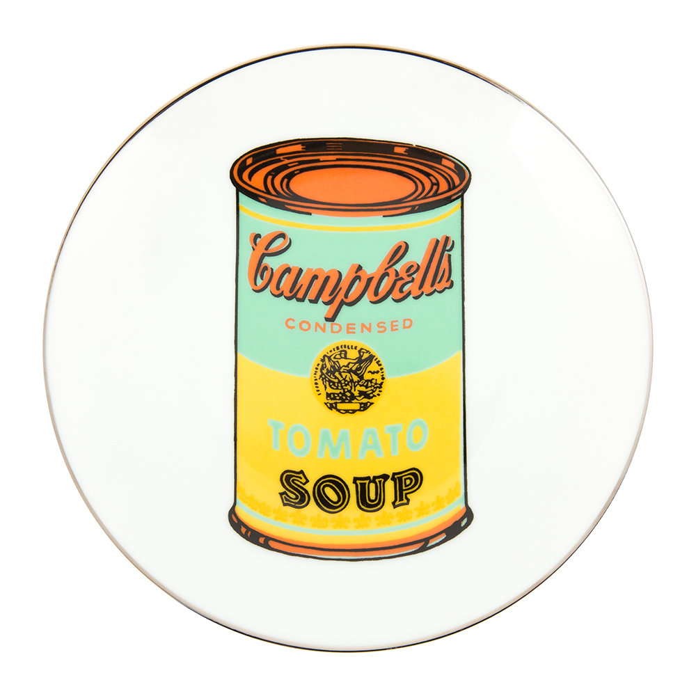 Ligne Blanche - Andy Warhol Plate - Campbell's Soup - Blue/Yellow