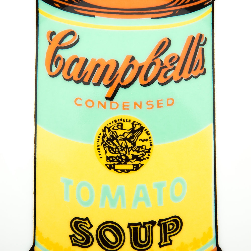 Ligne Blanche - Andy Warhol Teller - Campbell's Soup - Blau/Gelb