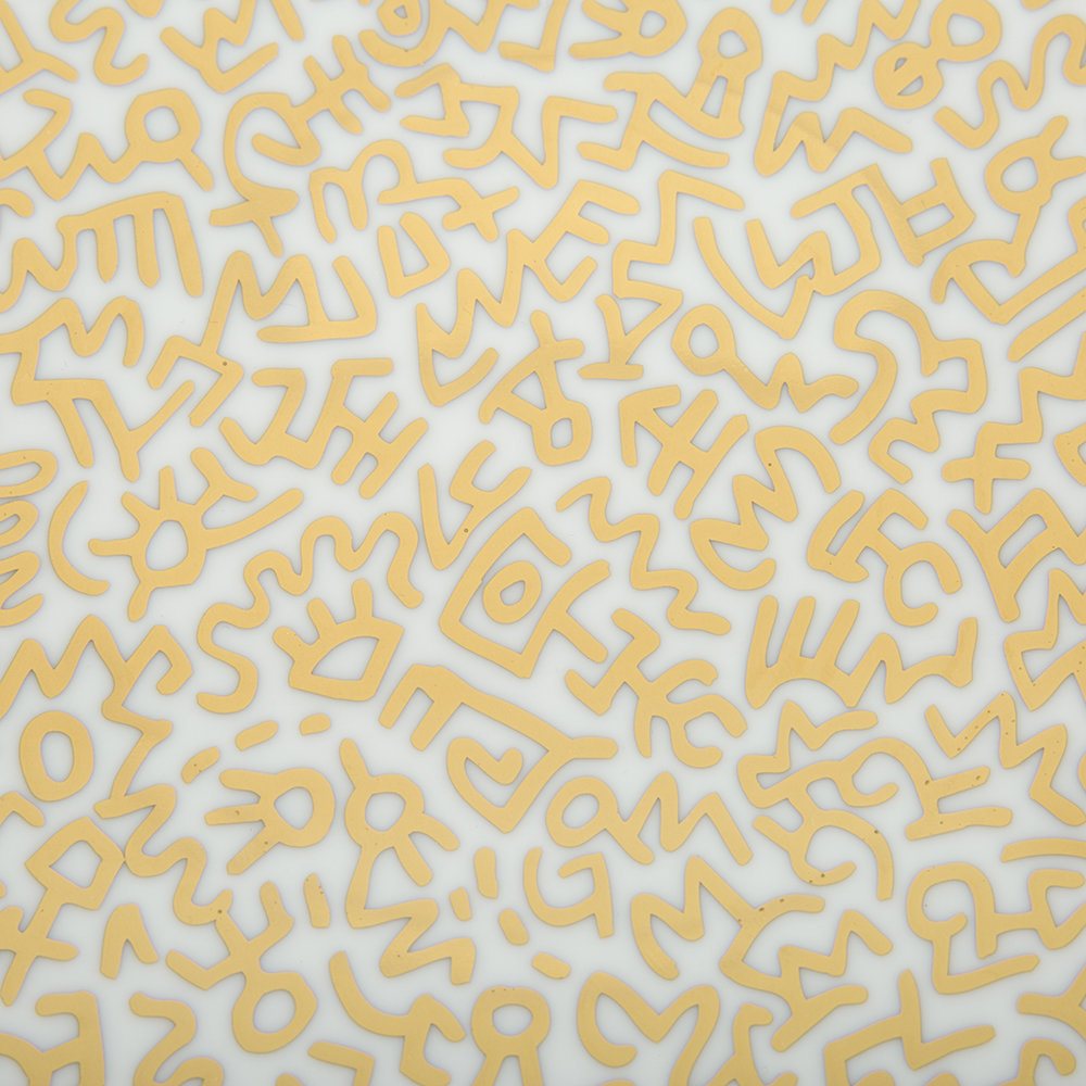 Ligne Blanche - Assiette«Motif Or»Keith Haring