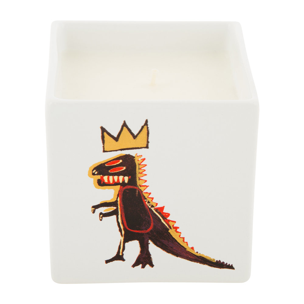 Ligne Blanche - Bougie Parfumée Carrée Jean-Michel Basquiat - Gold Dragon - Figue