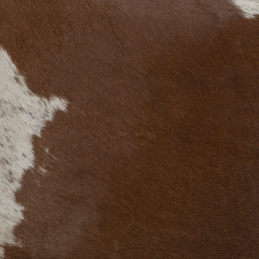 Luxe - Large Speckling Cowhide Pillow - 45x45cm - Tan/White