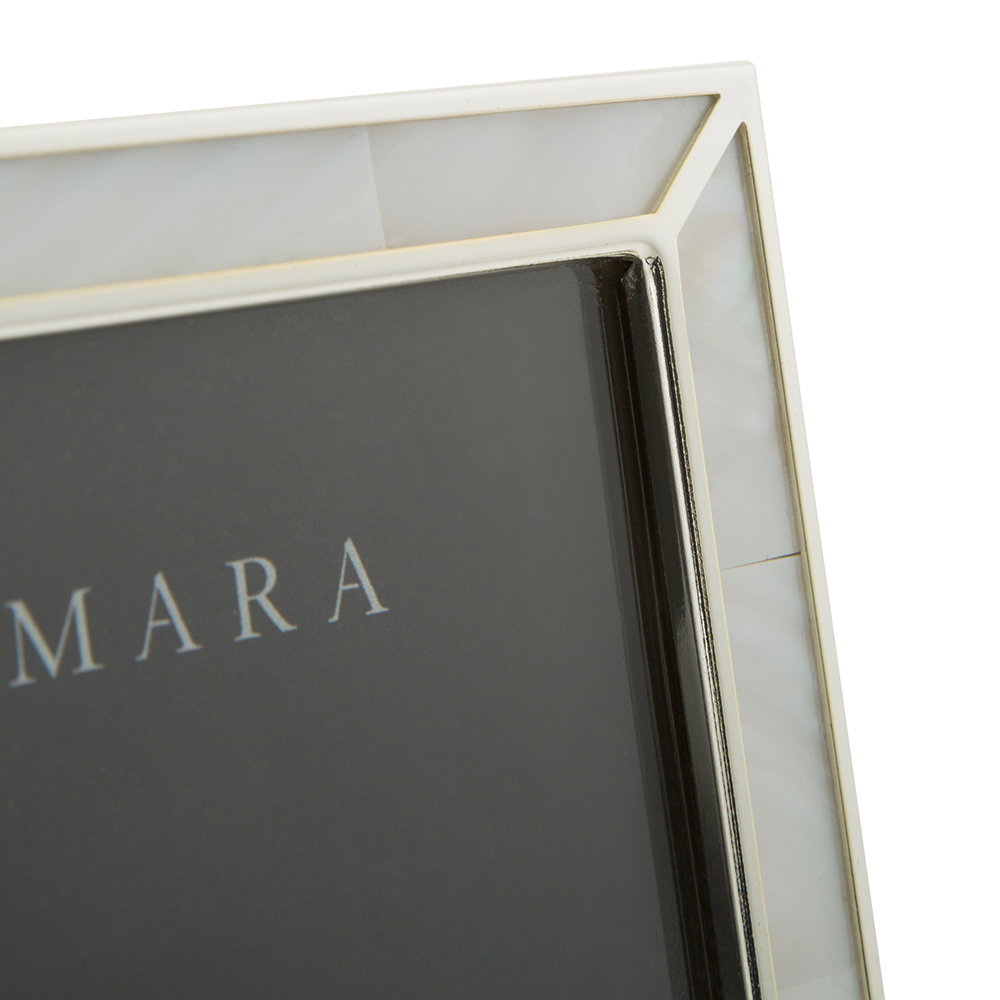 A by AMARA - Silver Photo Frame with Mother of Pearl - 5x7""