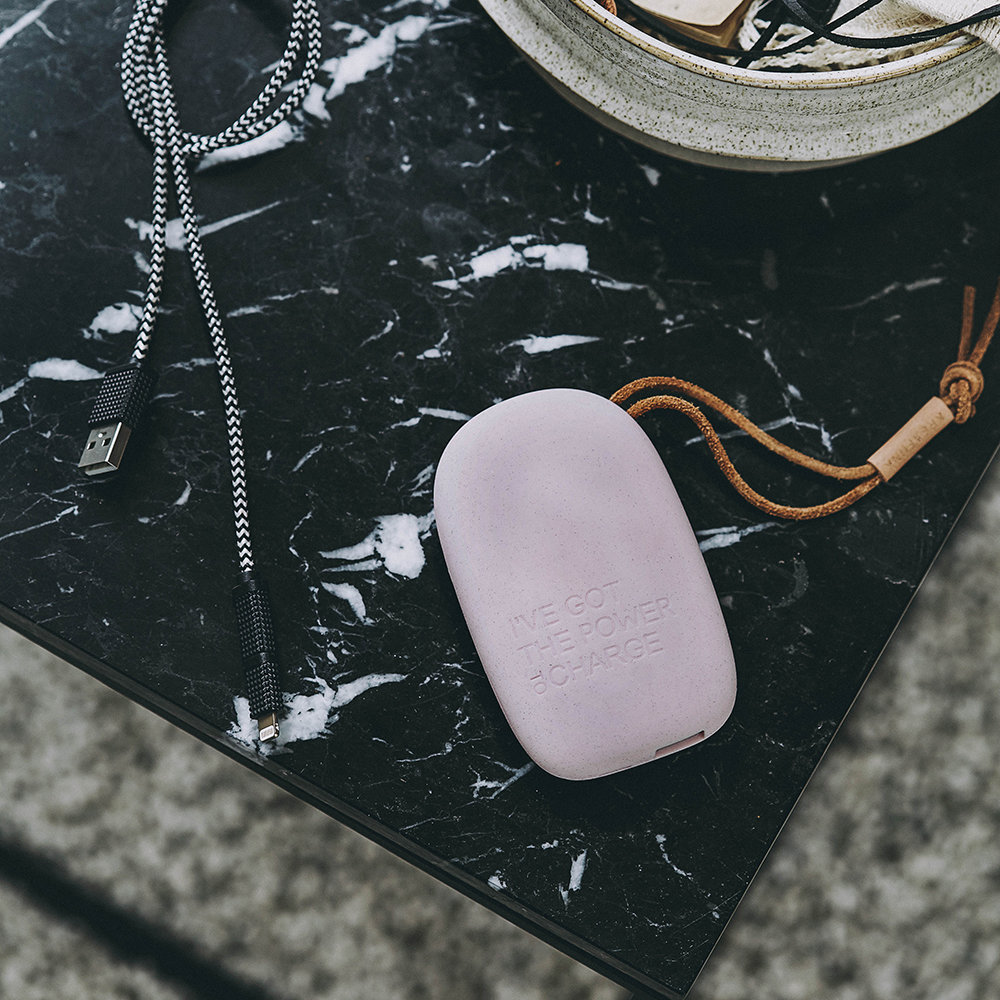 KREAFUNK - toCharge Portable Charger - Small - Dusty Pink