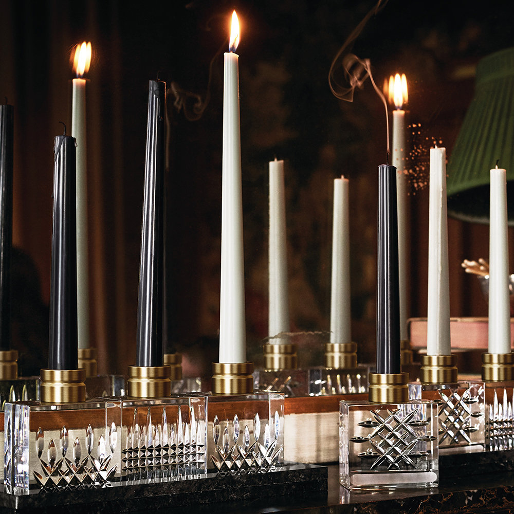 Waterford - Lismore Candlestick Pair - Opulence