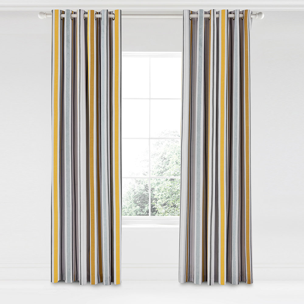 Scion  Lintu Lined Curtains  Dandelion  Pebble  168x229cm