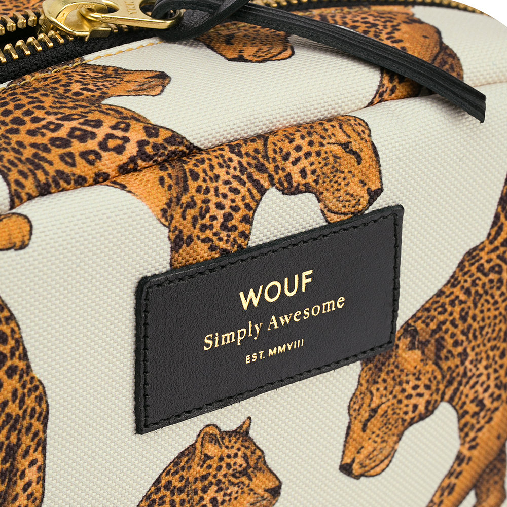 Wouf - Leopard Cosmetic Bag - Large