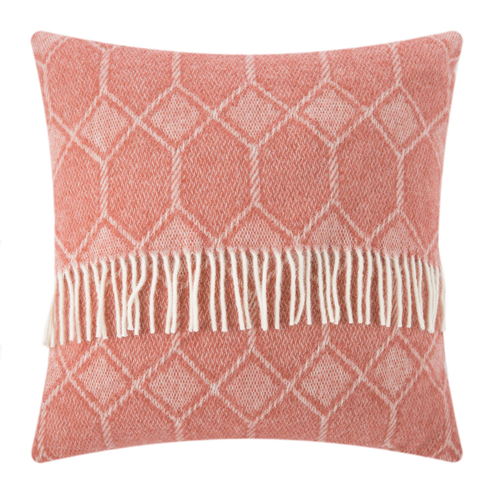Tweedmill - Churchpane Wool Cushion - 60x60cm - Cranberry