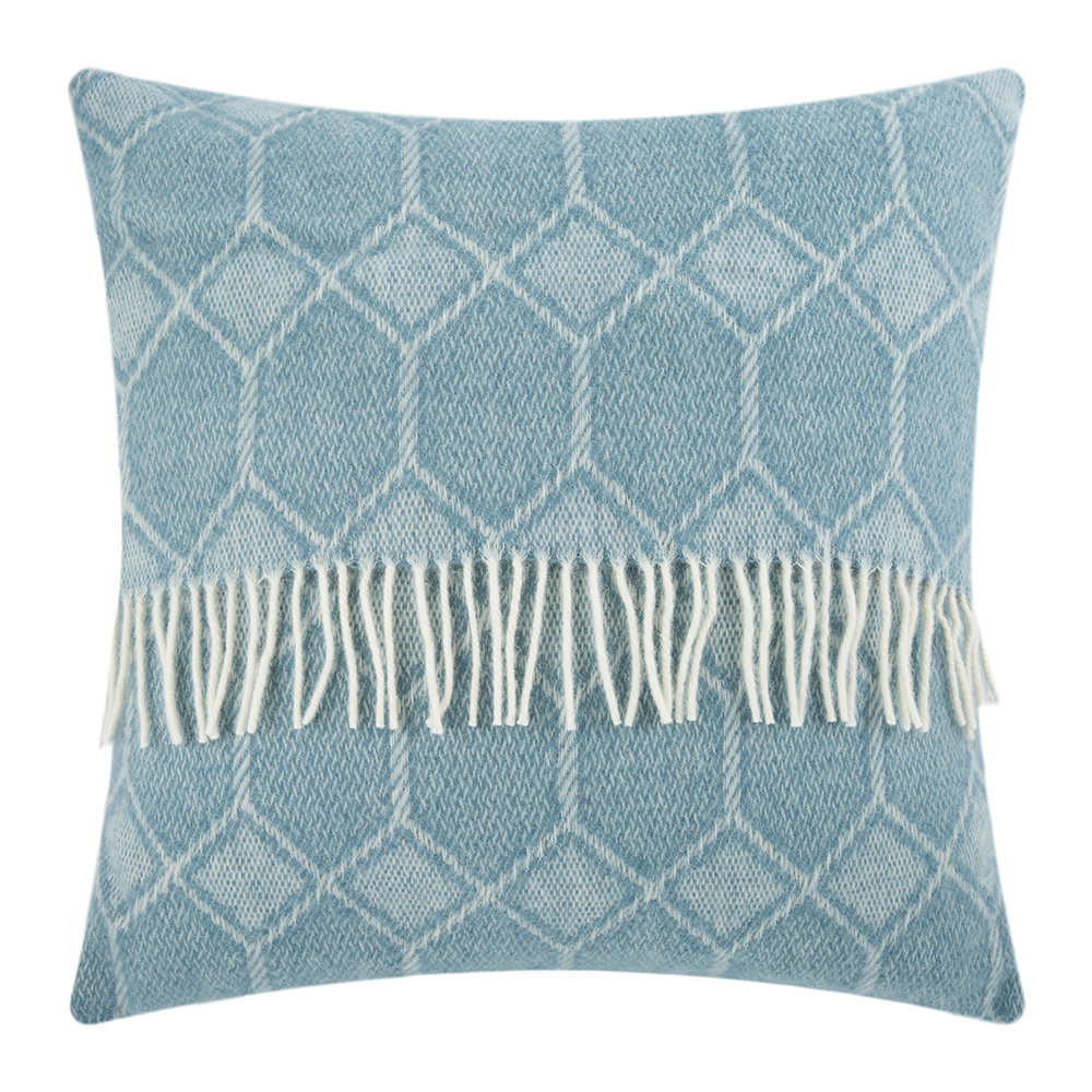 Tweedmill - Churchpane Wool Cushion - 60x60cm - Petrol