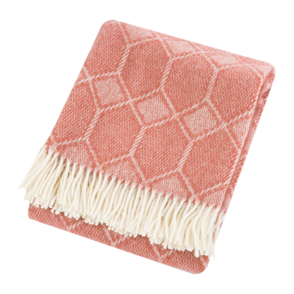 Tweedmill - Churchpane Wool Throw - Cranberry