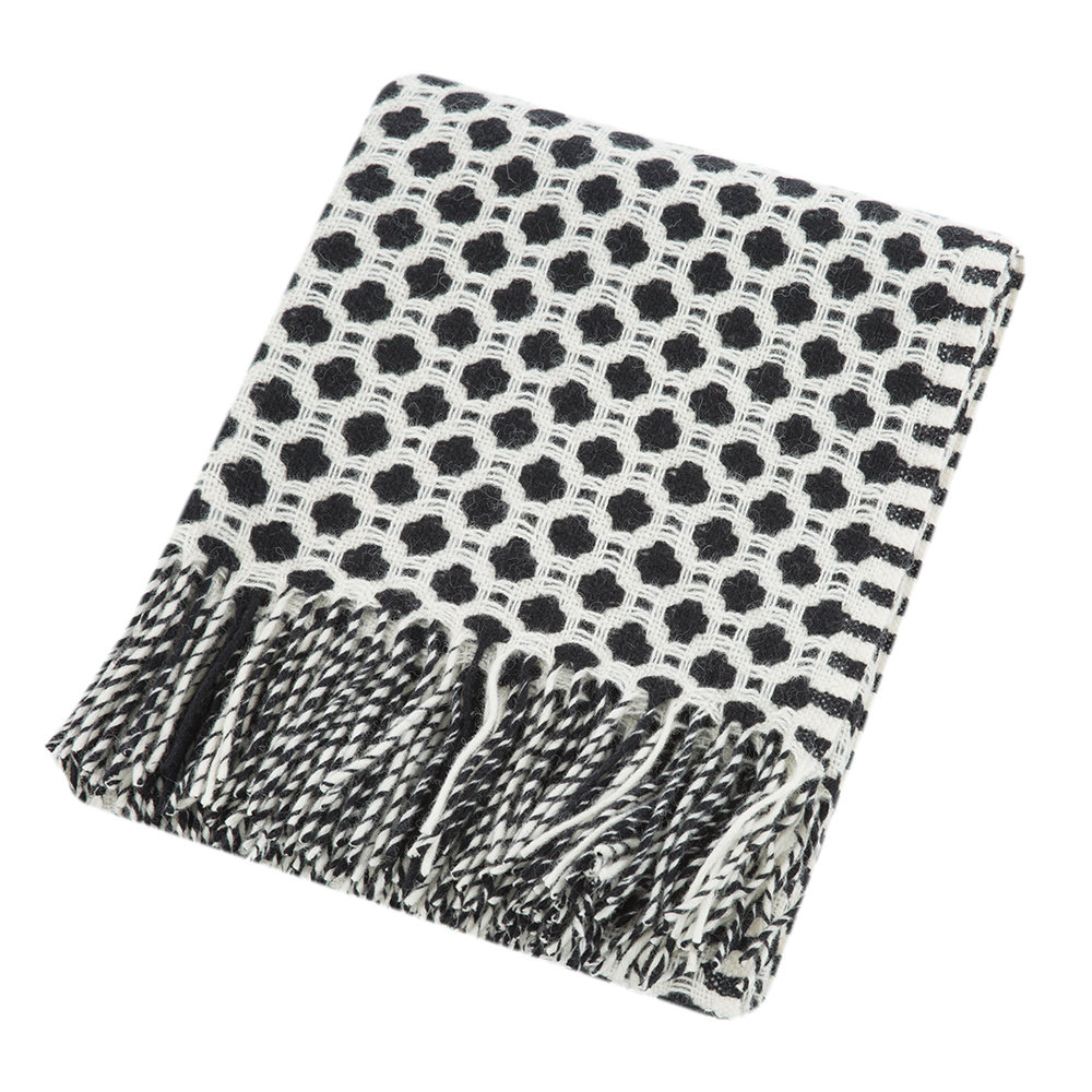 Tweedmill - Crossroads Wool Throw - Black