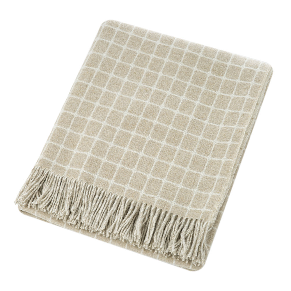 Bronte by Moon - Athens Merino Lambswool Throw - Beige
